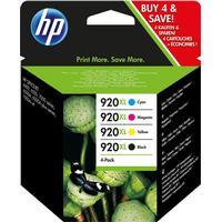 Multi Pack! HP 920XL BK / C / M / Y bläckpatron 67 ml original C2N92AE