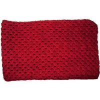LT-design præmatur tæppe / svøb økologisk uld rød 53 x 53 cm