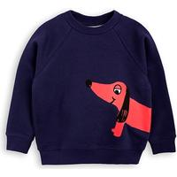 Mini Rodini Dog Sweatshirt - Dark Blue (1772014067)