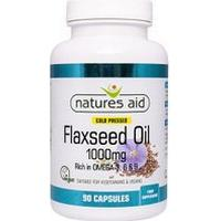 Natures Aid Flaxseed Oil 1000Mg - 90 capsules