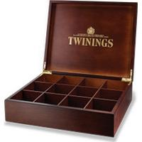 Twinings Deluxe Wooden Tea Box - 12 Compartment Empty