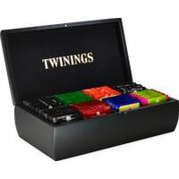 Twinings Black Wooden Tea Box 8 Compartment - Filled