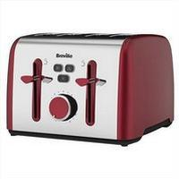 Breville Colour Notes 4 Slice Toaster - Red 408818
