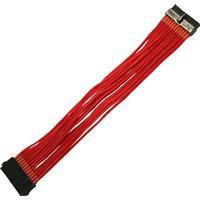 Nanoxia 900300024 kabelinterface samt han- og hun-adaptor 24-pin ATX Rød, Forlængerledning