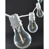 House Doctor lyskæde med 10 pærer hvid 8,40 M