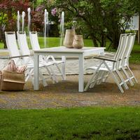 Easy Living Karlstad 45x45cm Table incl. 6-Chairs Matgrupp, 1 Bord inkl. 6 Stolar