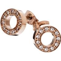 Edblad Eternity Rose Gold Plated Stainless Steel Stud Earrings w. Cubic Zirconia (79105)