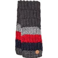 Barts Dark Grey and Red Stripes Wilhelm Scarf Stickade halsdukar