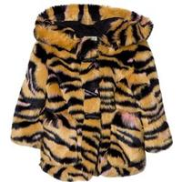 Kenzo Tan Tiger Print Faux Fur Hooded Parkas 2 years