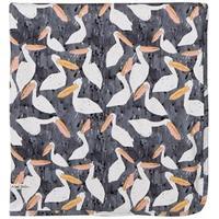 Noe & Zoe Berlin Black Stork Print Blanket