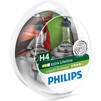 PHILIPS Bilpære H4 ECOVISION (LONGLIFE) - 2-PAK