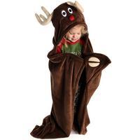 LazyOne Reindeer Critter Fleece Blanket