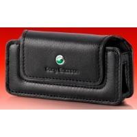 Sony Ericsson Classic Case ICE-45 - Hölsterväska för mobiltelefon - genuint läder - svart - för Sony Ericsson K510, T250, T270, T650, W200, W350, W580, W610, W660, W850, W880, W888, Z555