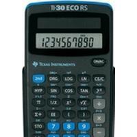 Texas Instruments TI-30 ECO RS, Ficka, Vetenskapsfunktion, 10 digits, 1 linjer, Solar, Svart