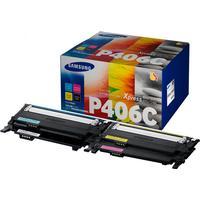 Multi Pack! Samsung CLT-P406C BK / C / M / Y Toner 4.500 sidor original
