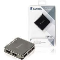 Konig CSU2H7P100BL 7-Port USB 2.0 Extern