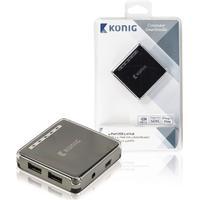 Konig CSU2H4P100BL 4-Port USB 2.0 Extern