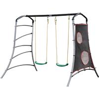 Plum Eris Metal Double Swing Set