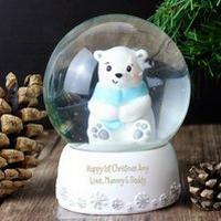 Personalised Polar Bear Snow Globe