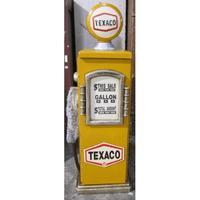 Texaco USA Texaco Petrol Pump gul opbevaringsskab 72x24cm