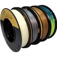 FrontierFila PLA 4x250g guld/silver/självlysande/värmeaktiv 1.75mm FrontierFila filament för 3D-printer