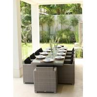 Skyline Pacific 10 Seater Rectangle Rattan Garden Set
