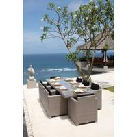 Skyline Pacific 8 Seater Rectangle Rattan Garden Set