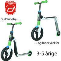 Scoot & Ride Highwayfreak - White/Green/Blue - løbehjul og løbecykel i ét