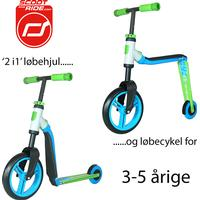 Scoot & Ride Highwaybuddy - Green/Blue - løbehjul og løbecykel i ét
