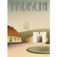Vissevasse Fredericia Princes Gate 30x40cm Plakater