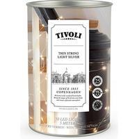 Tivoli Thin String Light udendørs silver batteri - 5 m/50 lys