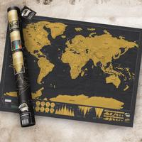 Scratch map - världskarta stor