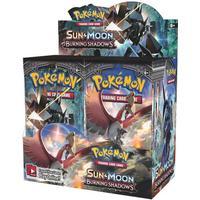 Pokemon sun & moon burning shadows display box