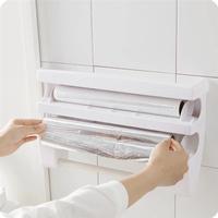 Vægholder for plastfolie / aluminiumsfolie & køkkenrulle