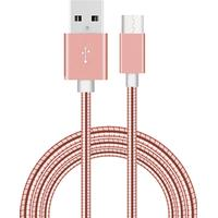 Metallkabel till USB-C för Samsung, Sony, Huawei, HTC 1 m Roséguld