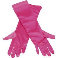 Handskar långa rosa, Snygga långa handskar i rosa som passar till de flesta maskeraddräkterna.
