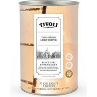 Tivoli Thin String Light udendørs copper batteri - 5 m/50 lys