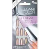 Elegant Touch Chrome Molten Madame Nails 24-pack