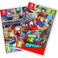 Nintendo Super Mario Odyssey + Mario Kart 8 Bundle