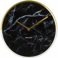 Karlsson Väggklocka - Karlsson Marble Delight Gold Black