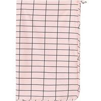 Tinycottons Grid Towel Pale Pink/Dark Navy