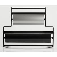 Flot dobbelt gavepapirstativ i sort til 38 og 55cm ruller