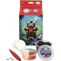 Foam Clay Funny Friends, 1 set, svart