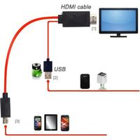 Universal mhl micro usb till hdmi kabel hdtv adapter för mhl