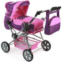 Bayer-Chic Chic 2000 Dockvagn Road Star - Dots Purple-Pink