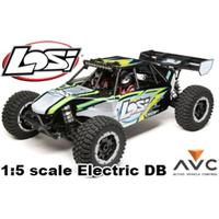 LOS 1/5I DESERT BUGGY XL-E 4WD ELECTRIC RTR WITH AVC, SVART