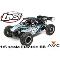 LOS 1/5I DESERT BUGGY XL-E 4WD ELECTRIC RTR WITH AVC, GREY