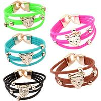 3 pack leopard armband i starka färger