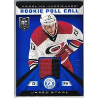 Jared Staal 2013-14 Totally Certified Rookie Roll Call Jerseys Prime Blue #RRJAS /50