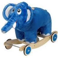 Krea Bodil elefant - Gyngehest, 1 på lager